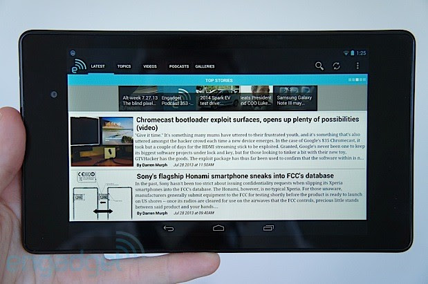Nexus 7 viewing the Engadget app