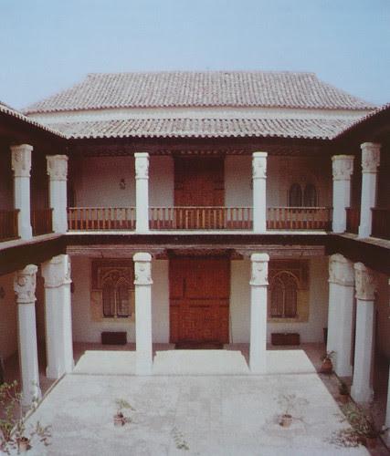 Palacio de Fuensalida en 1979. Galería norte del patio noble