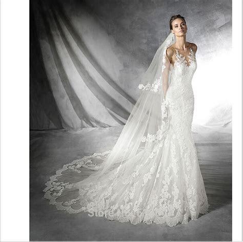 2016 Lace Mermaid Wedding Dress, Elegant Wedding Dress