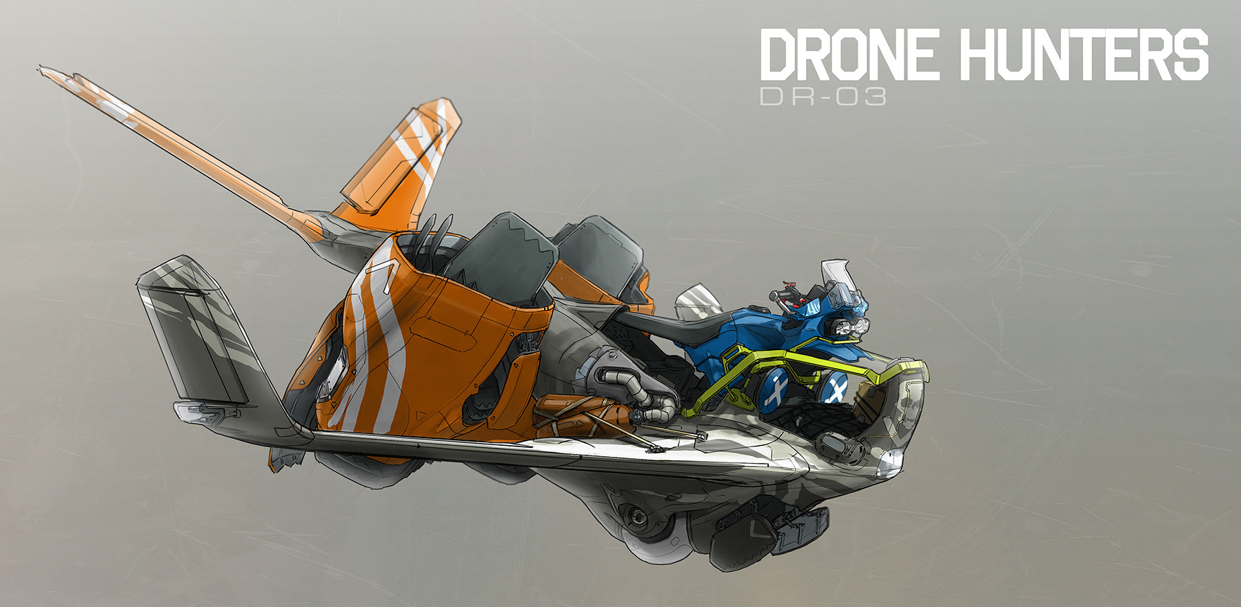 concept ships: DRONE HUNTERS by Ian Galvin