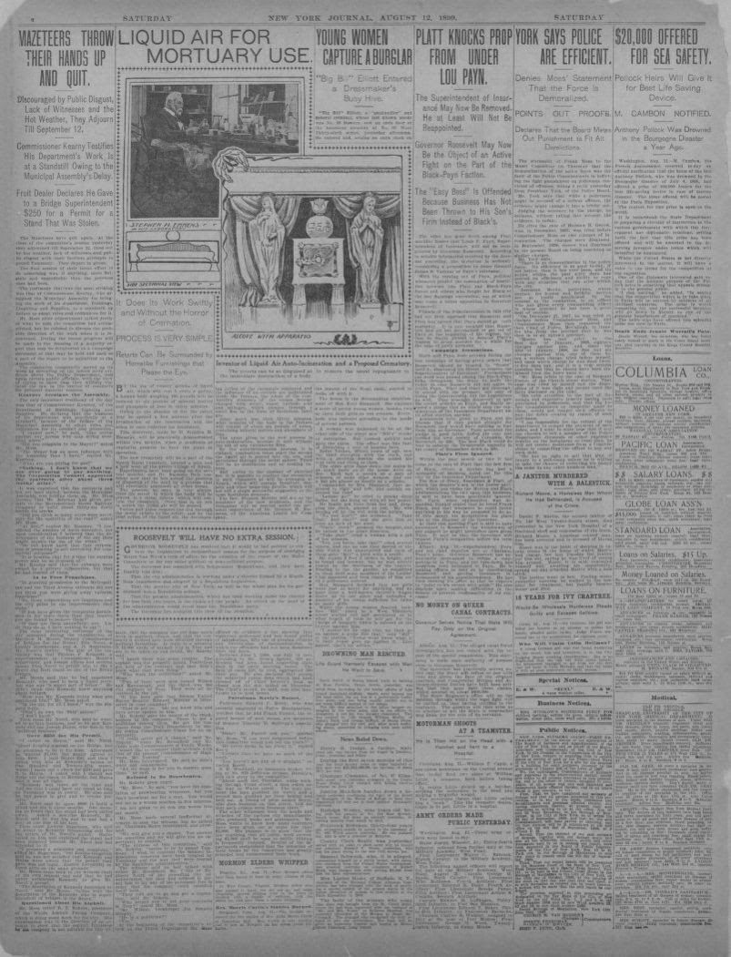 Image 4 Of New York Journal And Advertiser New York Ny