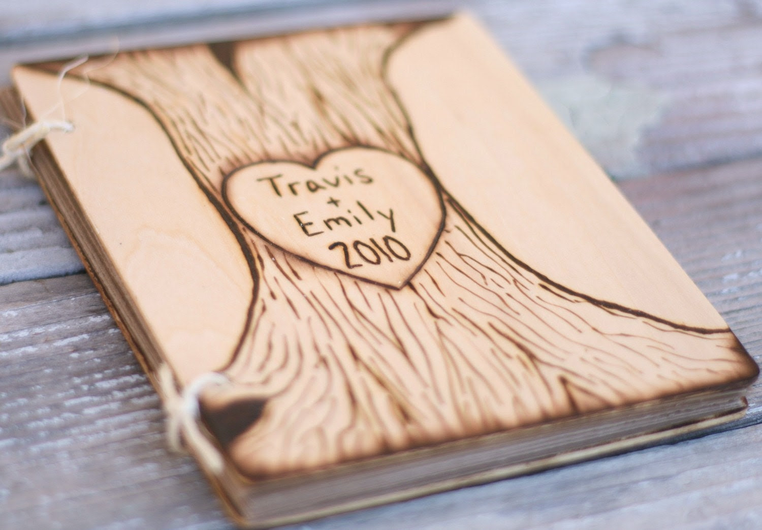 Personalized Heart and Arrow Wedding Guest Book Journal Notebook Rustic Cinderella Renaissance Fairytale