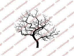 0 Visible Image Winter Tree stamp small