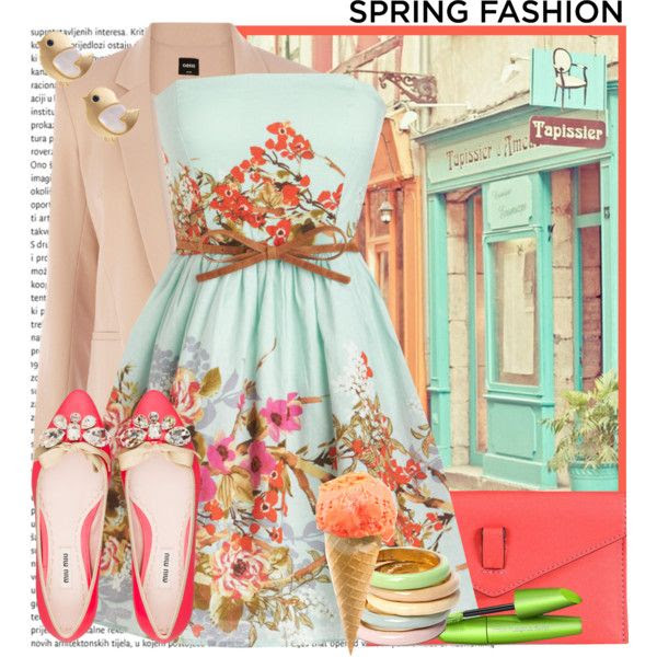 Spring Fashion - Sorbet Colors by karineminzonwilson on Polyvore