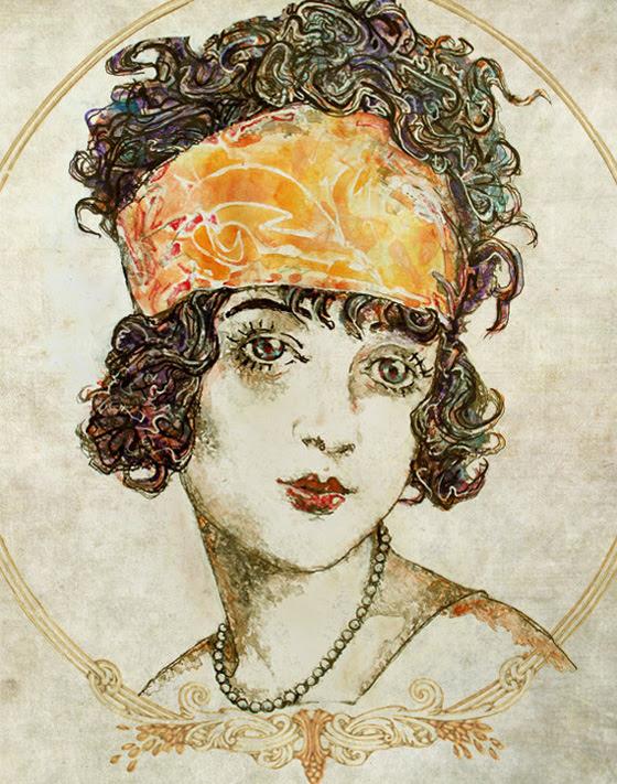 Zar Zahariev Art Deco Illustrations 5 Zar Zahariev Illustrations : Belle Dame au Chapeau
