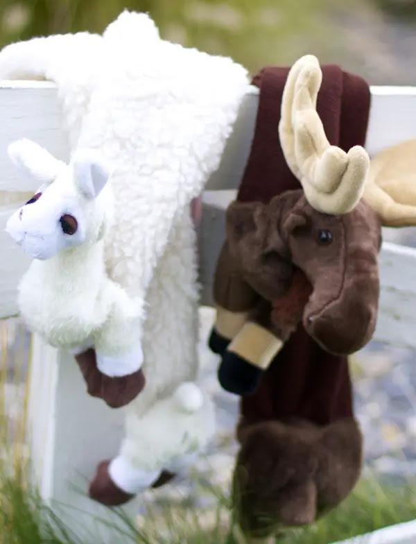 DIY animal scarfs for kids