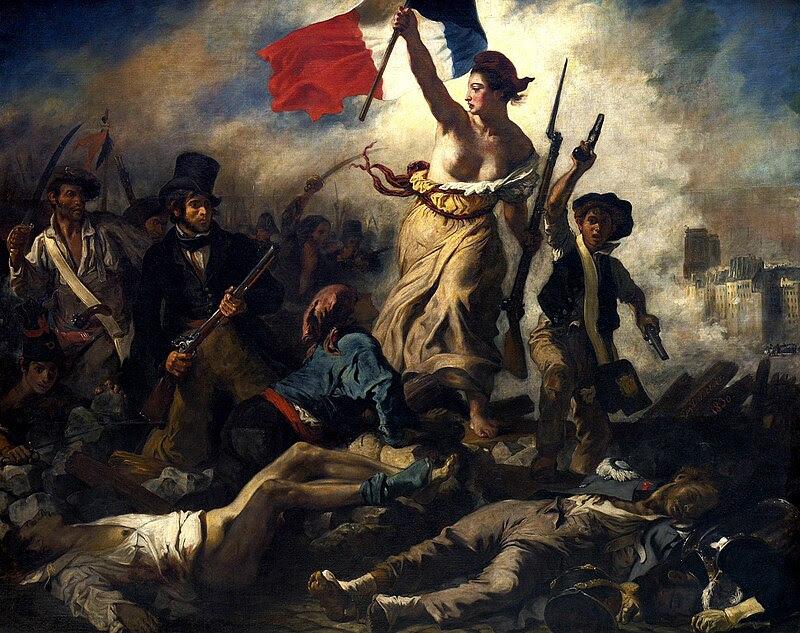 Libertad guiando al pueblo, Eugene Delacroix