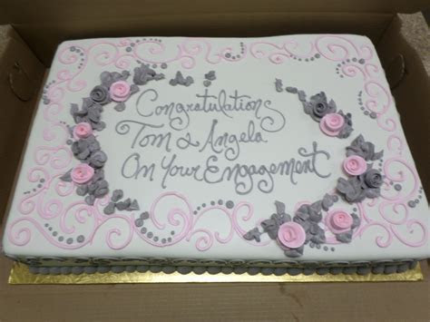 Engagement Sheet Cake   engagement party in 2019   Wedding