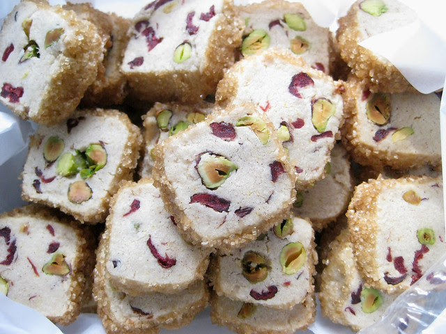 pistachio cranberry ice box