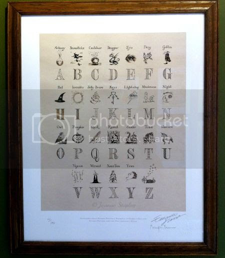 Print of Wizarding Alphabet poster from baby Harry's bedroom in Harry Potter and the Philosopher's Stone - The House of MinaLima