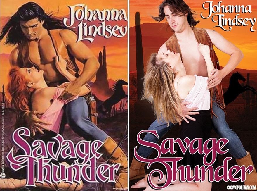 3 - 10 Pics Of Real People Hilariously Recreating Romance Novels