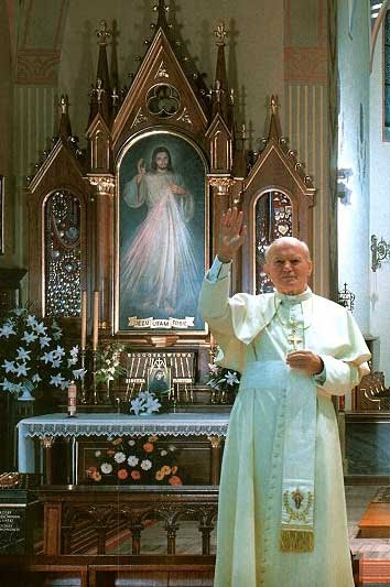 pope and Divine Mercy