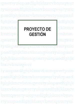 Proyecto De Gestion Ceip Gloria Fuertes (Jaén)