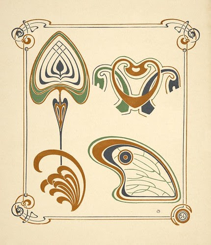 Abstract design based on wings and leaf shapes