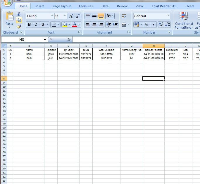 Xlsx File Aplikasi Surat Kelulusan Siswa Dengan Mail Merge Sistem Excel Dan Word Operator