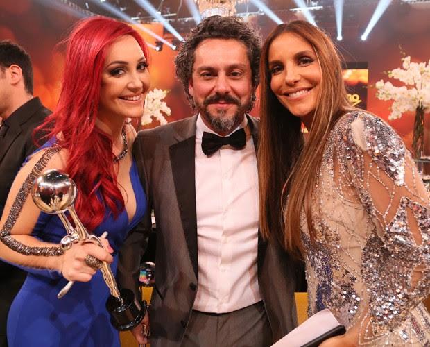 Josie Pessoa, Alexandre Nero e Ivete Sangalo juntos  (Foto: Carol Caminha/ Gshow)