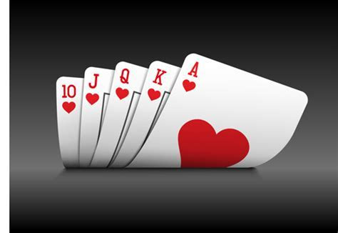 Royal straight flush playing cards vector 04 free download