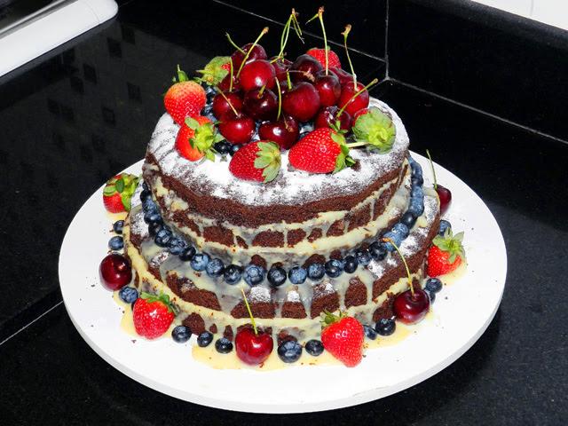 Receita Naked Cake de Nozes Natalino - Confeitaria OnLine