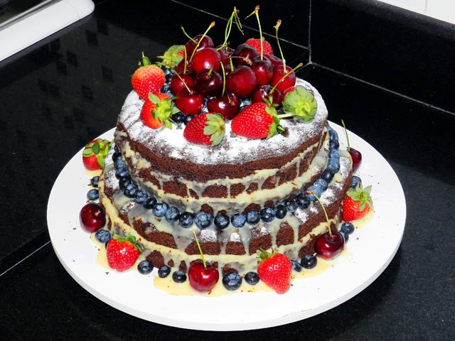 Bolo naked cake delicioso - Receita do Cheff
