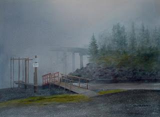 Foggy Island Bridge-Nancy Van Blaricom