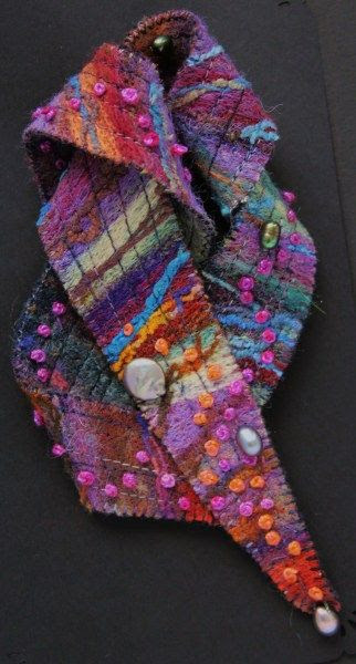 Frances Taylor - Brooch, needle-felted