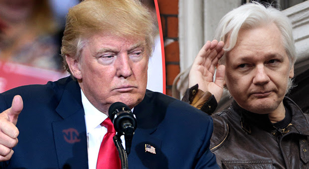 qanon has suggested that trump is going to free julian assange this week