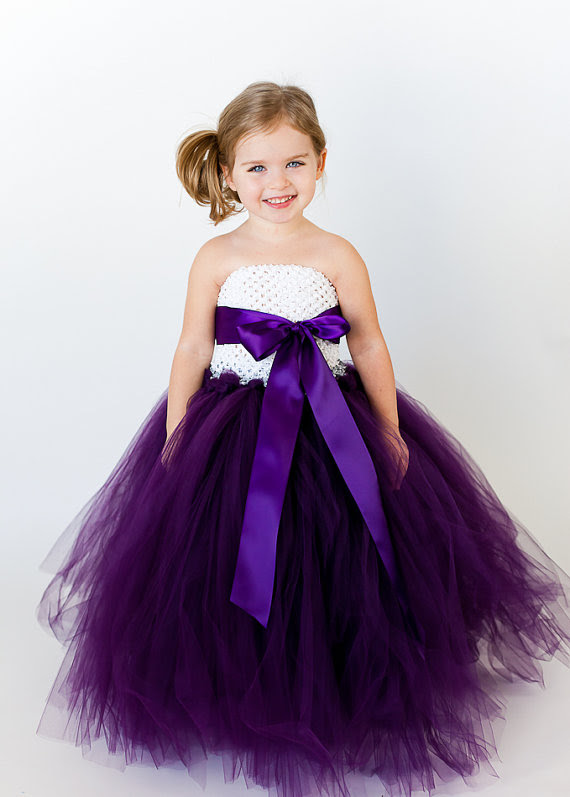 custom customized flower girl tutu dress with removable sash