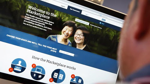 Page of Obamacare website which has been temporarily closed down for maintenance. The has had problems since going online in October 2013. by Pan-African News Wire File Photos