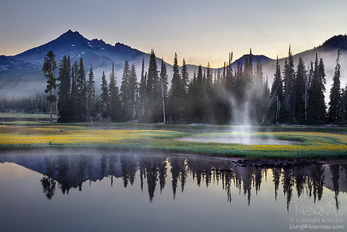 Morning Fog, Sparks Lake, Oregon