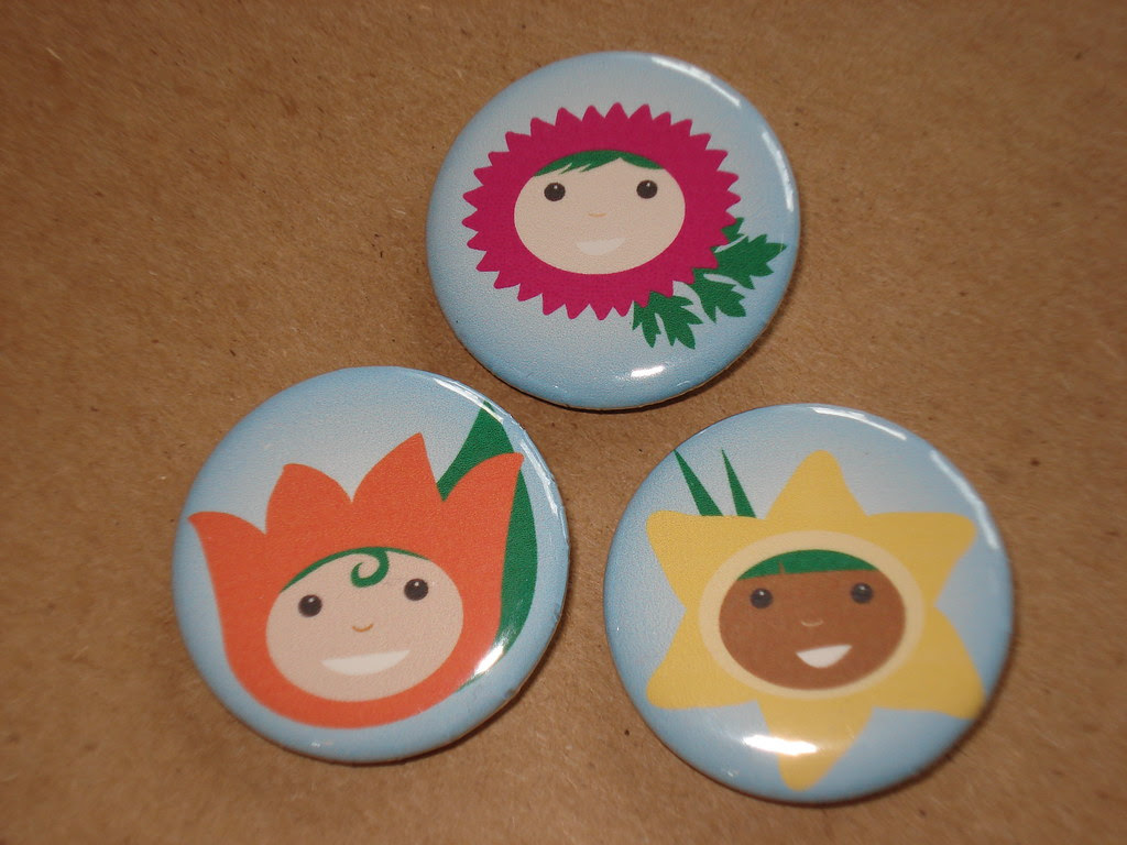 Flower Costume Kids Buttons