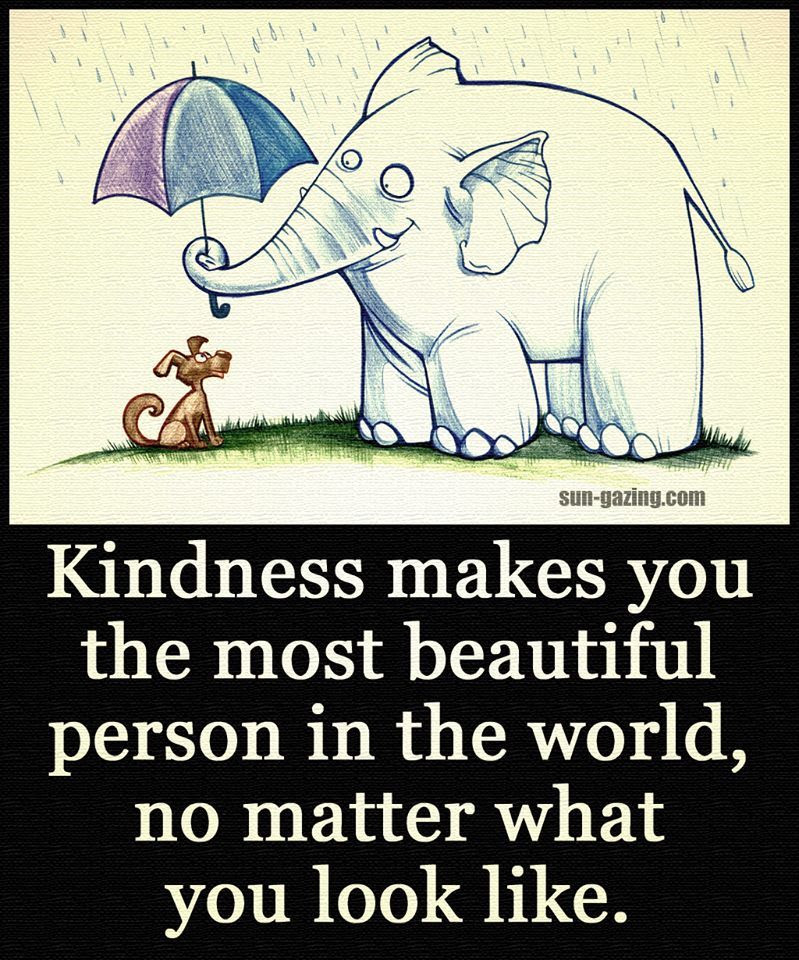 Kindness Makes You The Most Beautiful Person In The World No Matter