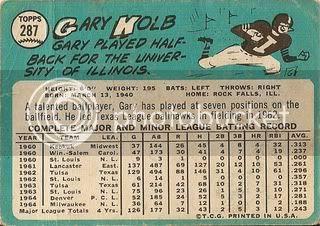 #287 Gary Kolb (back)