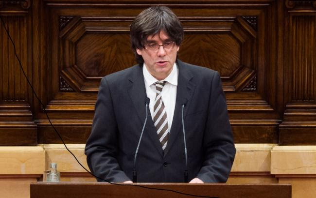Catalonia's president Carles Puigdemont made the UDI pledge