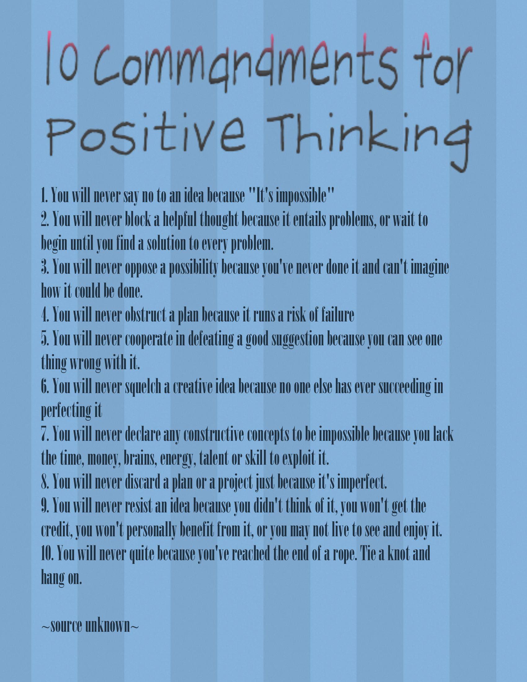 Positive Thinking-001