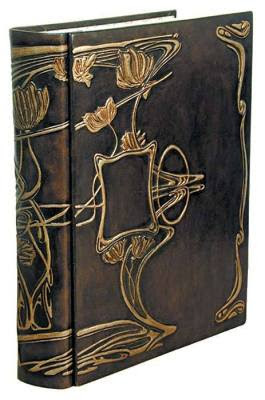 leather album with art deco design on the cover