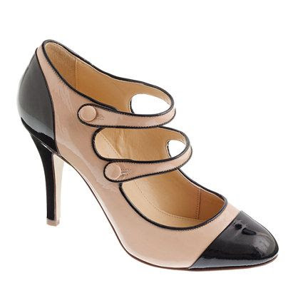 J.Crew Two-Tone Patent Mary Janes