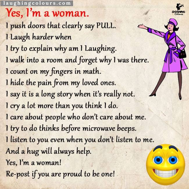 Proud To Be A Woman Aka Idiot Forwardsfromgrandma
