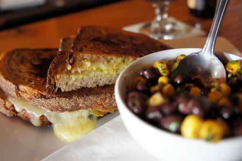 white cheddar pickle grilled sandwich