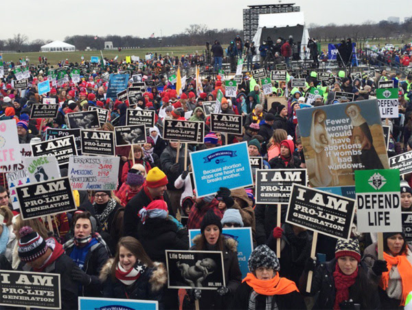 2016 March for Life (Photo: Twitter/Jeanne F. Mancini)