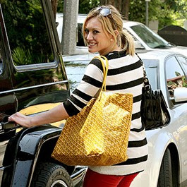 Breakfast At Tiffany S Hilary Duff Hearts Goyard