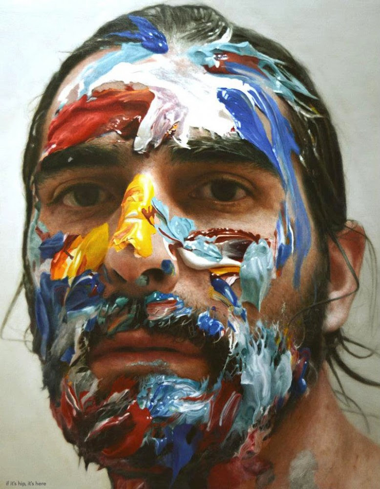Paint in my head number 6, oil on board,2012. 160x160 cm copy