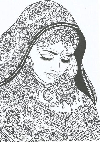 Lady Coloring Page by Truce de Nana