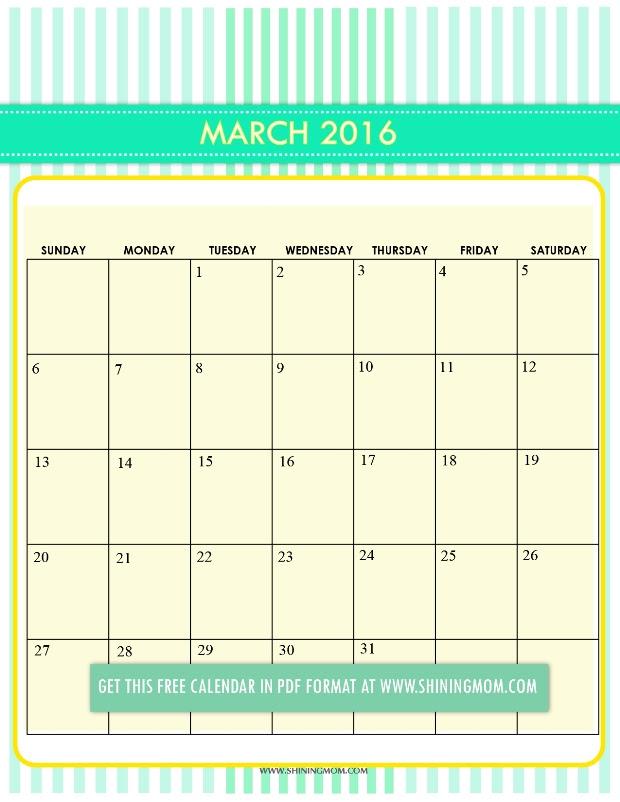 March Calendar 2017 Pretty | february calendars