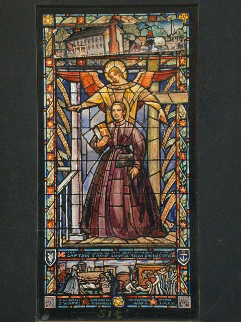 [Design drawing for stained glass Captain Sally Louisa Tompkins Memorial Window, St. James Episcopal Church, Richmond, Virginia]