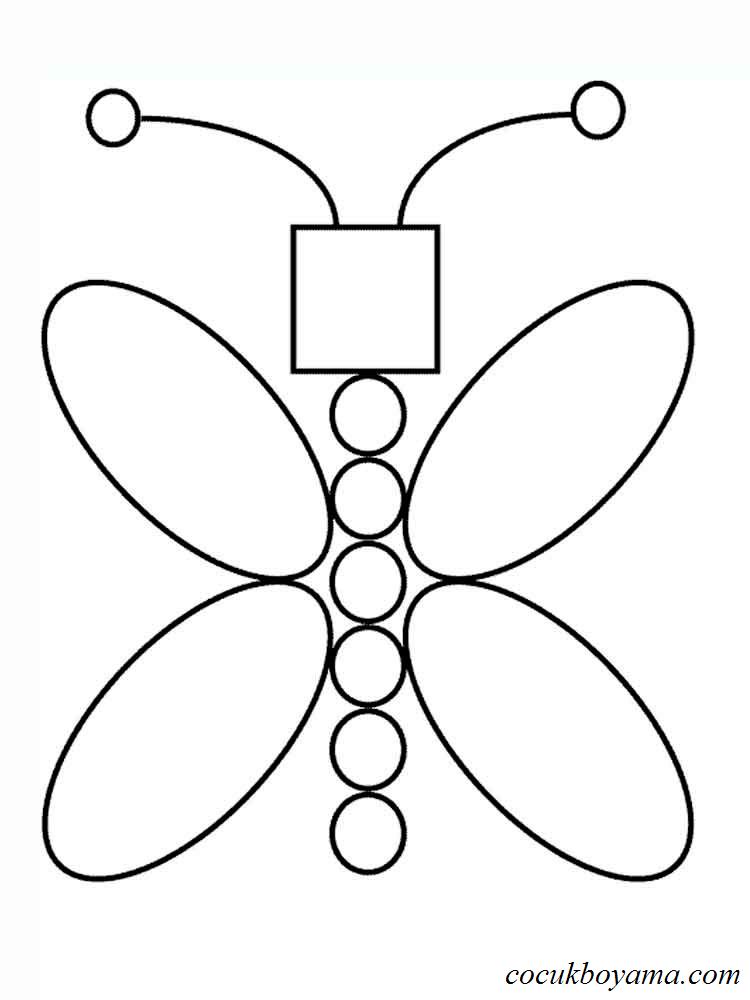 Geometrik Boyama Sekilleri Ust Ev Boyama Sayfasi