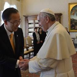 Ban Ki-moon con il Papa