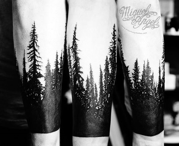 Deep and Super Cool Forest Tattoo Ideas (9)
