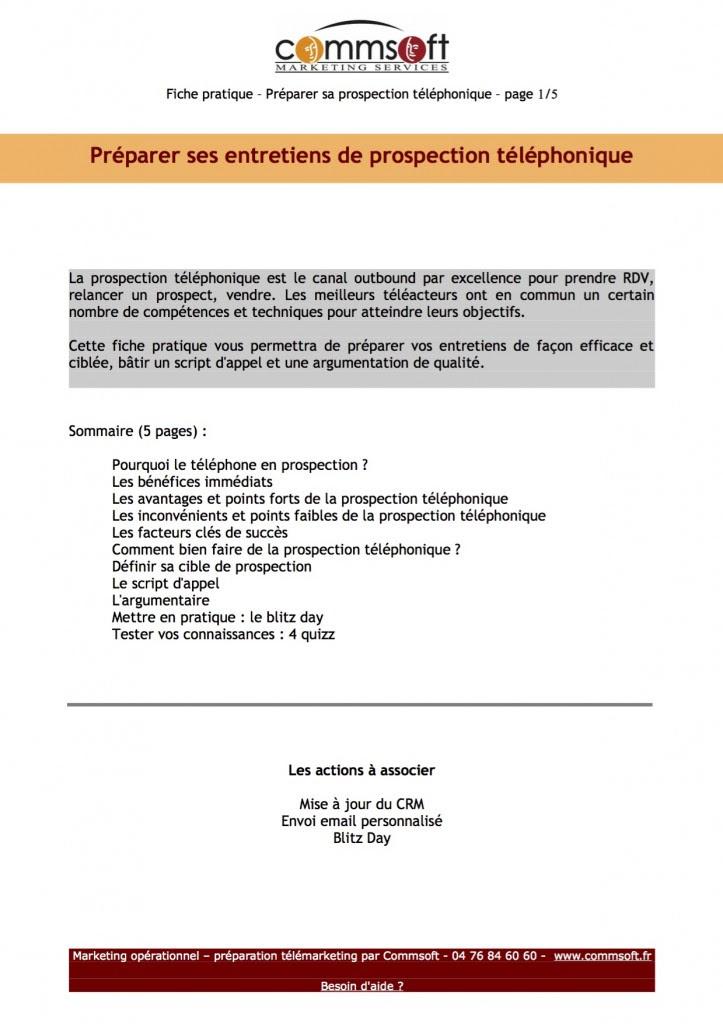 Exemple De Fiche De Préparation Dappel Téléphonique - Exemple de Groupes