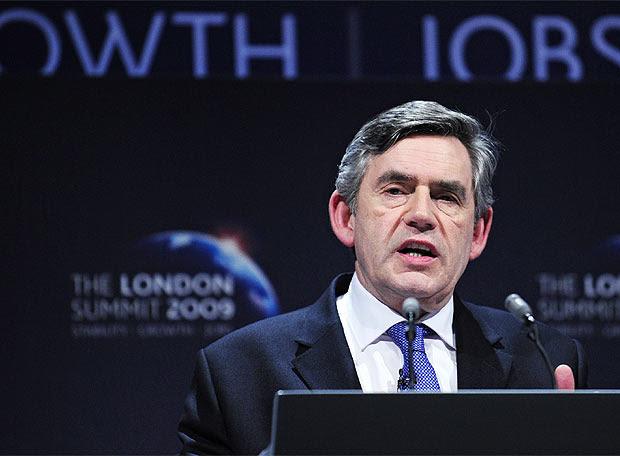 Brown en la rueda de prensa posterior del G-20
