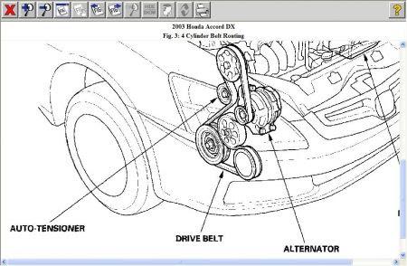 2003 Honda Accord V6 Drive Belt Diagram - View All Honda Car Models & TypesView All Honda Car Models & Types